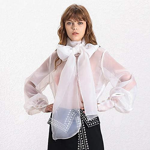 SETGVFG Camicie E Top da Donna Eleganti in Prospettiva Lanterna Manica Allacciata Camicie Taglie Forti Moda Autunno Femminile novità white shirt