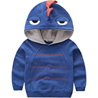 Aivtalk - Sudadera con capucha para niños, manga larga, diseño de dinosaurio