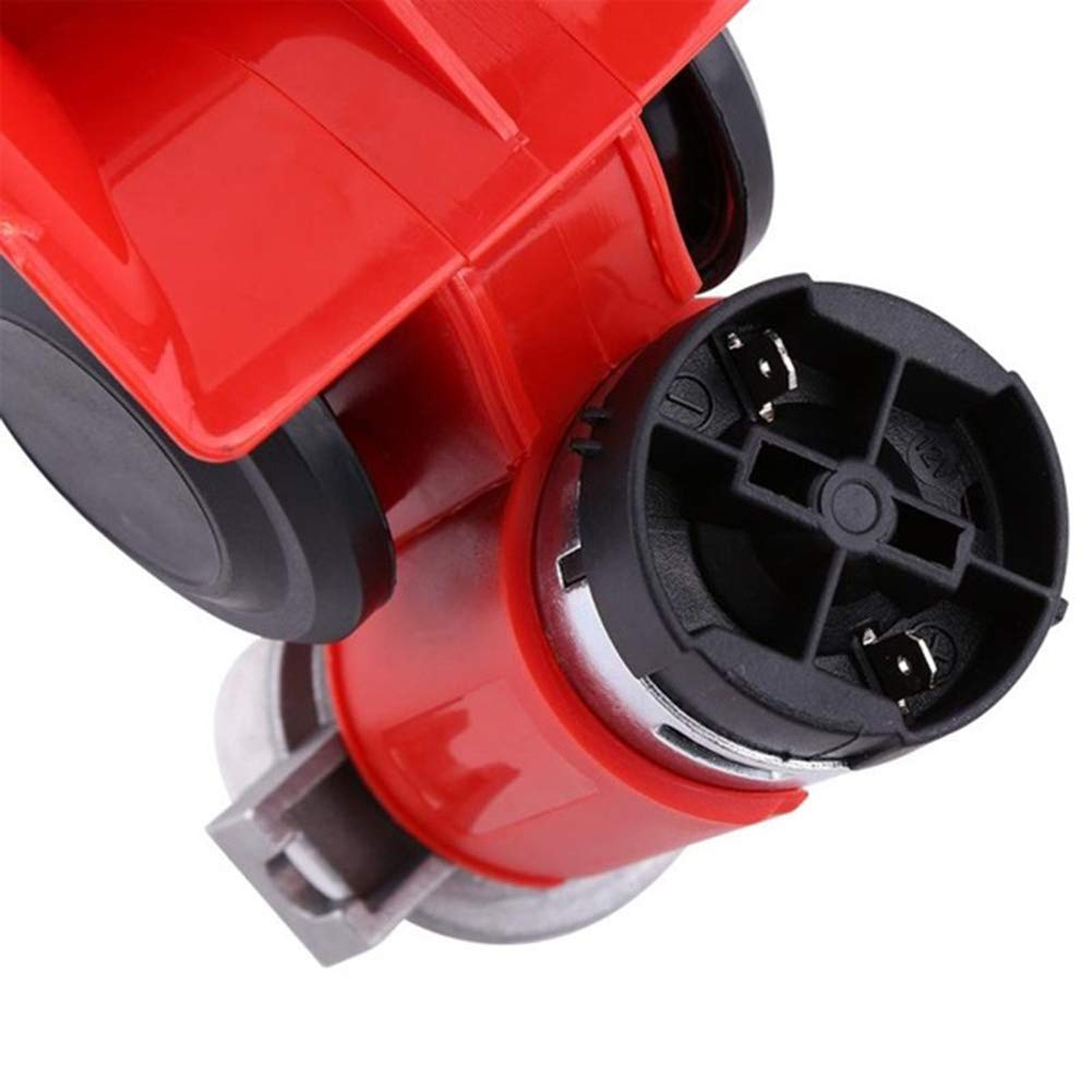 lymty car horn,12V 130dB Dual Tone Trumpet Loud Electric Air Horn Snail Electric Pump Siren For Car Motorcycle