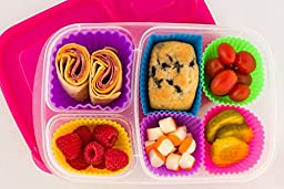 Pantry Elements Silicone Baking Cups Variety Pack/ Bento Bundle Lunch Box Dividers (18-Pack)