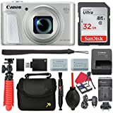 Canon PowerShot SX730 (Silver) Digital Camera 40x Zoom Lens + 32GB SD + Spare Battery + Complete Accessory Bundle