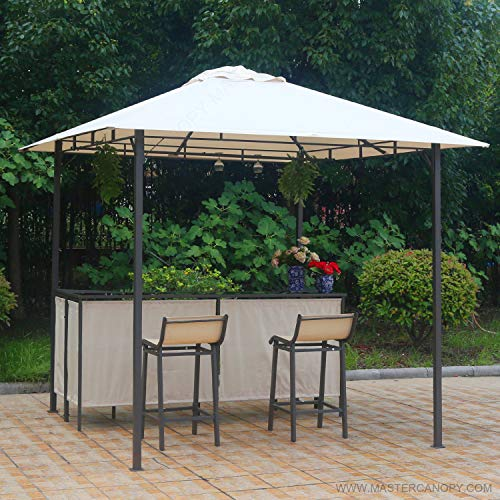 MASTERCANOPY Family Party Garden Grill Gazebo 8 x 8,Balcony Barbecue Garden Gazebo Barzebo Pavillion Canopy Set Counter Design with Chair ()