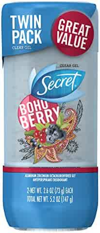 Secret Scent Expressions Boho Berry Clear Gel Women's Twin Antiperspirant and Deodorant, 5.2 Ounce, Packaging May Vary