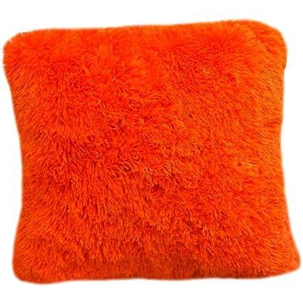 Amazon Dainty Home Shaggy Throw Decorative Pillow Orange Unique Shaggy Decorative Pillows