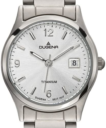 Dugena dames kwartshorloge, hypoallergeen titanium, gehard mineraalglas, titanium armband, Semper zilver, 4460332 tQZa1j8W