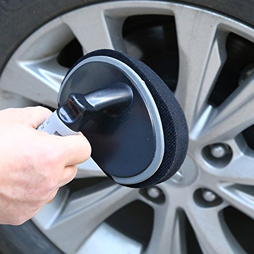 Leaftree Goodyear Auto Tire Shine Slick Car Applicator Curved Sponge