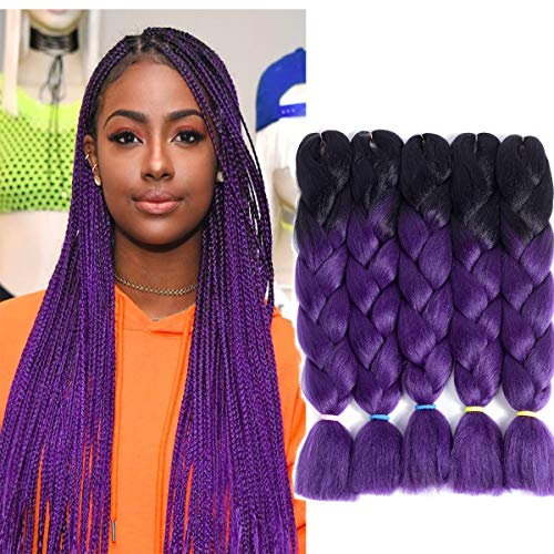 5pcs Lot 24 Ombre Kanekalon Synthetic Jumbo Braid Twist Hair