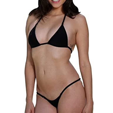 dce190f45cf64 SHERRYLO Mini Micro Bikini Swimwear Women Triangle Top String Thong Bottom  Swimming Suit for Women  Amazon.co.uk  Clothing