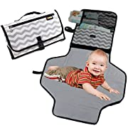 Diaper Changing Pad Portable Change Station - Clutch Bag Baby Travel Mat | Perfect Shower Present for Newborn Boys Girls