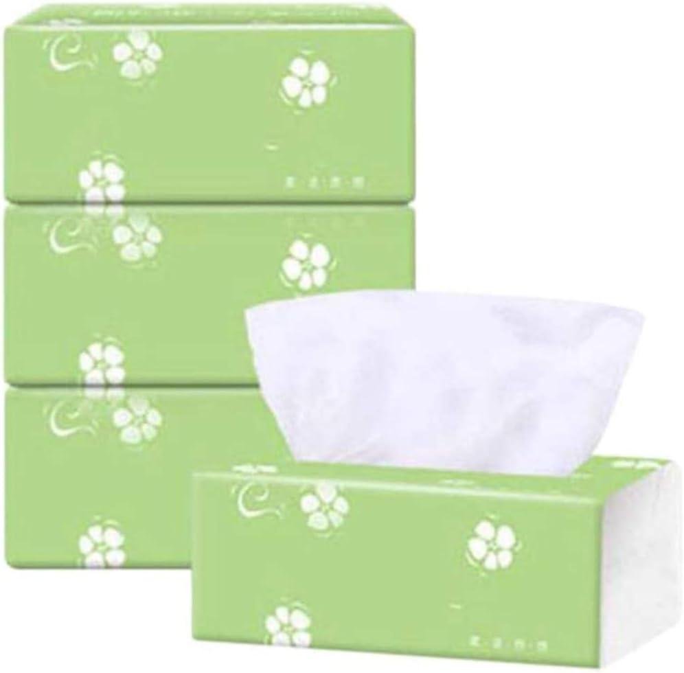 Mazaashop 3 Pack 3-Ply Log Facia Tissue 300 Tissues per Packs 900 Tissues Total for Home