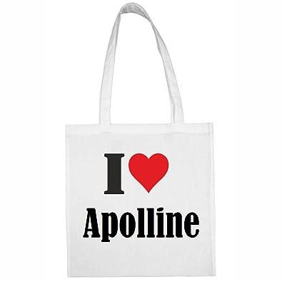 Apolline Markt Farbe Reifen Weiss 38x42 Tasche Love Größe Druck I NwPkn08OX