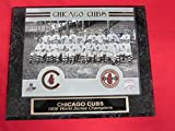 1908 Cubs World Series Champions Collector Plaque w/8x10 Vintage Photo