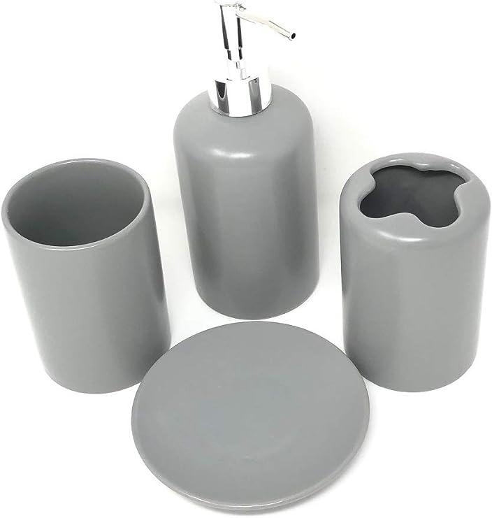 WPM 4 Piece Ceramic Bath Accessory SetIncludes Bathroom Designer Soap Or Or