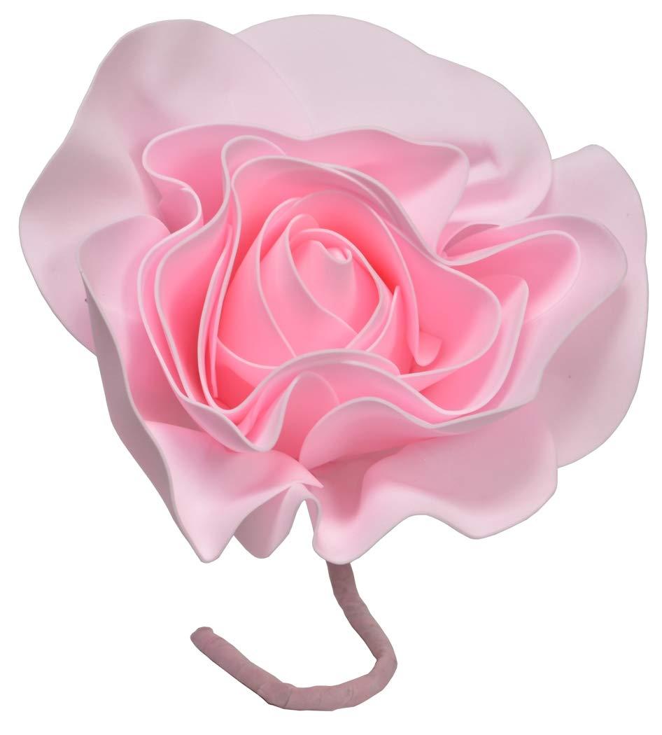IG Artificial Rose Foam EVA Flower 8 Inch Round with Stem (3 Pieces) Pink