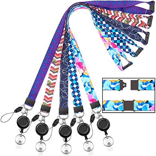Cruise Lanyard for id badges women kids keys lanyards with Retractable Badge Reel clip for ID holder ship card Breakaway lanyard safety Quick Release Office Neck lanyards with reel holder youowo 5pack