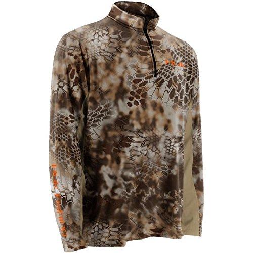 Huk Men's Kryptek Icon 1/4 Zip Shirt, Camo, Medium