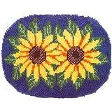 Wonderart Latch Hook Kit 20''x 27'' Sunflowers