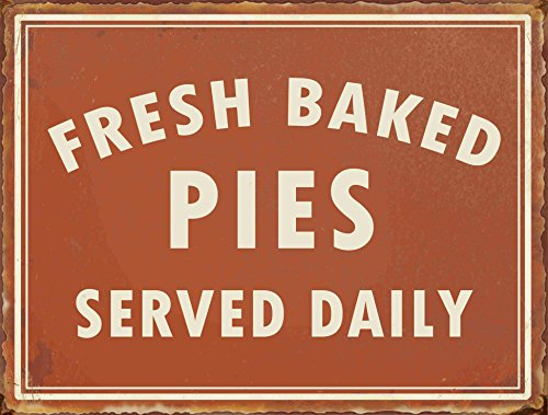 (Barnyard Designs Fresh Baked Pies Served Daily Retro Vintage Tin Bar Sign Country Home Decor 10