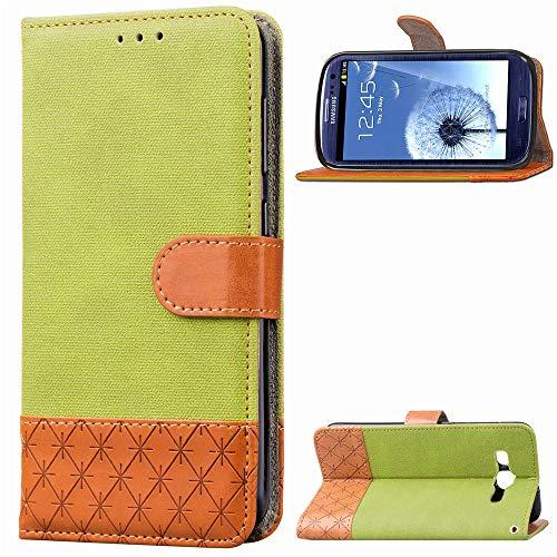Happon Samsung Galaxy S3 i9300 Case,Samsung Galaxy S3 i9300 Case,Closed Premium PU Leather Wallet Snap Case Closed Closed Flip Cover for Samsung Galaxy S3 i9300 Green