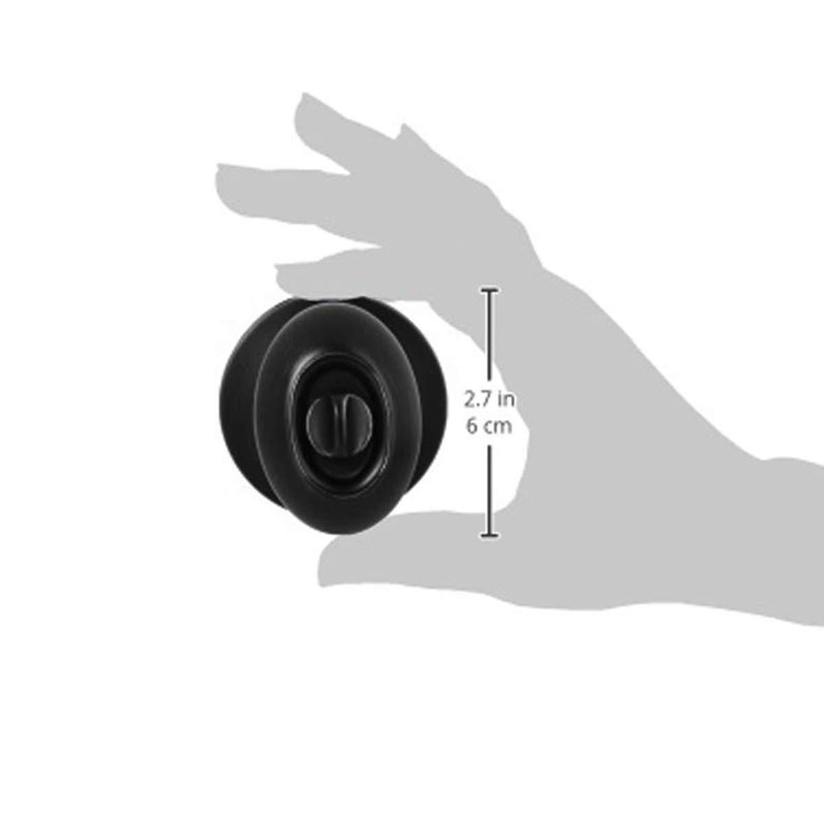 Standard Ball Basics Privacy Door Knob With Lock Matte Black