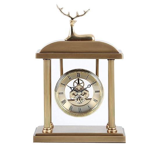 Amingkun Estilo Moderno Mesa De Cobre Puro De Reloj Antigua Pasada ...
