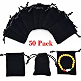 Best Chain With Gift Bags - 50pcs Velvet Bags Drawstring Jewelry Gift Pouches Review