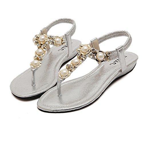 Ring Para Correa Plateado De Jewels Mujer Summer Sandalias Gold Dolphinbanana Coloridas wq8pYntf