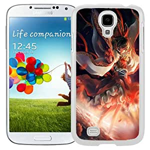 Touhou Flames Hd X Wallpapers White Abstract Design Custom Samsung Galaxy S4 I9500 Case
