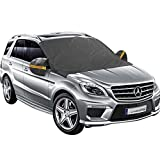 Yoobure Car Windshield Snow Cover With Magnetic Edges With Mirror Snow Cover Snow Ice Frost Screen Windshield Cover Car Window Cover for Snow Premium Proper Size Fit for Universal Vehicle
