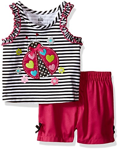 Kids Headquarters Baby Sleeveless Top with Woven Shorts, Bla