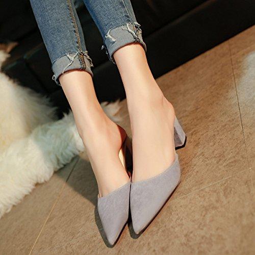 Grey Slim Femmes Pantoufles GSHGA Sandales Summer Fashion SwYAqR0