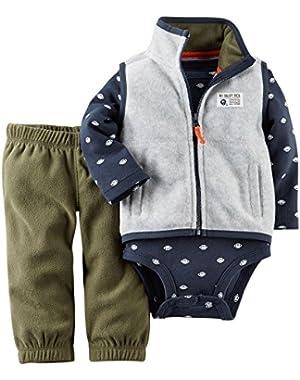 Carter's Infant Boys 3 Piece Vest Set #1 Draft Pick