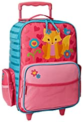 At the ideal height for little travelers, this children's rolling luggage is the perfect companion on any trip. It has multiple pockets to keep your child's most prized toys safe and an extendable handle for easy rolling