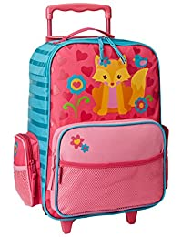 Stephen Joseph Girls' Rolling Luggage, Fox, One Size, 1 Pack