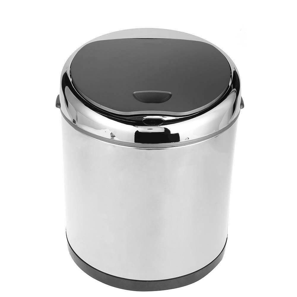 Matefield Stainless Steel Automatic Sensor Dustbin Rubbish Waste Bin Trash Can