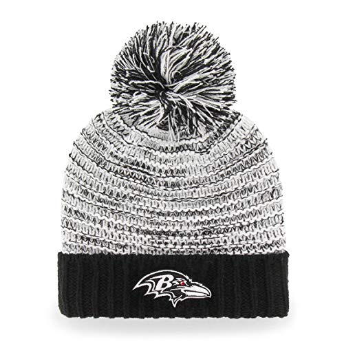 Baltimore Ravens Womens Hats - OTS NFL Baltimore Ravens Female Sansa Cuff Knit Cap, Black, Women's