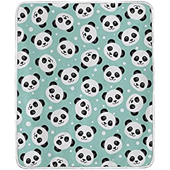 Amazon.com: U LIFE Cute Pandas Soft Fleece Throw Blanket