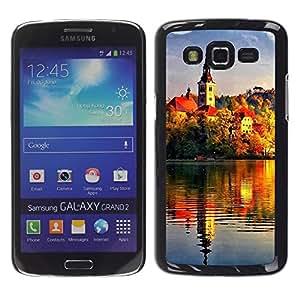 Exotic-Star ( Sunset Beautiful Nature 72 ) Fundas Cover Cubre Hard Case Cover para Samsung Galaxy Grand 2 II / SM-G7102 / SM-G7105