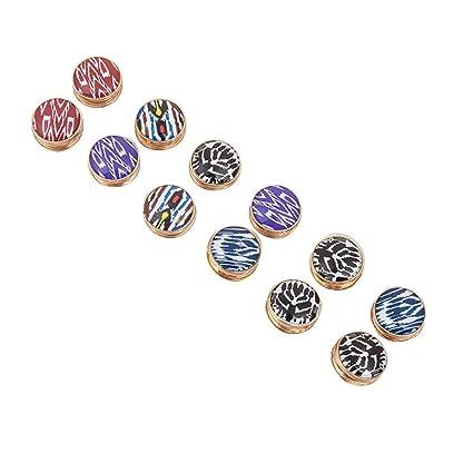12/pcs Alliage magn/étique Boutons broche Foulard Boucle 12pcs al/éatoire pressions Clous sans couture V/êtements Bouton de laide de boutons-pression color/é