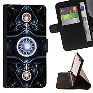 - Sci Fi Design - - Prima caja de la PU billetera de cuero con ranuras para tarjetas, efectivo desmontable correa para l Funny HouseFOR LG OPTIMUS L90