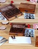 UCEC 70pcs Alphabet Stamps Vintage Wooden Rubber