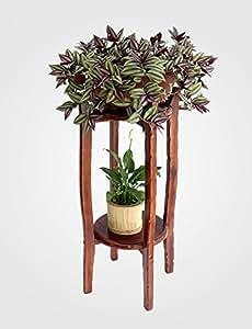 GAOWUFENGYL Soporte de flores de madera maciza Estante de flores colgantes Estante de flor de rábano verde Estante de flores de interior Estantes de flor multicolores de bonsái Asamblea para las flores ( Tamaño : 80cm )