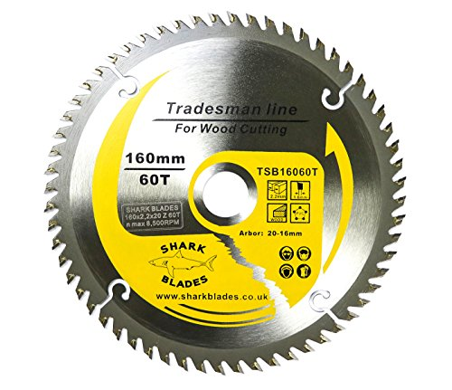 Blue Ser Wolfcraft 6268000 160 x 20 x 2mm CV Circular Saw Blade with 100 Teeth