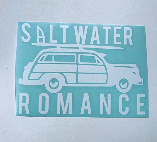(Woody Salt Water Romance White Vinyl Decal)