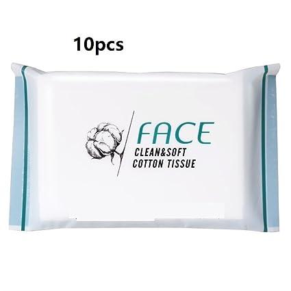 Limpieza de algodón Tejido Facial de Viaje Portátil Suave Tejido No Tejido Blanco Cosmético Maquillaje Toallitas