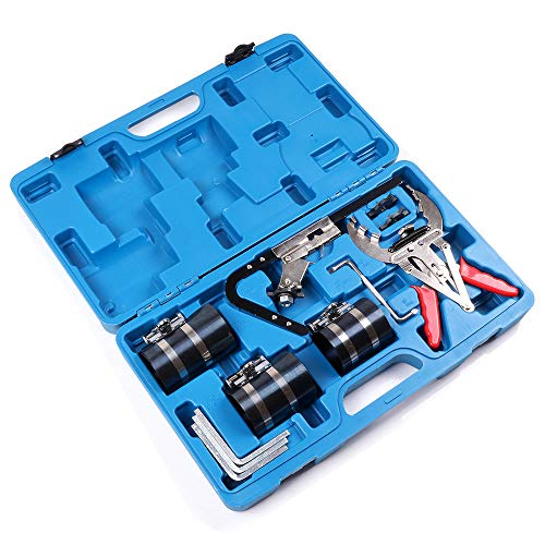 Aintier Engine Piston Ring Compressor Tool Kit with Ring Groove Cleaner Ring Expander Fit for Gasoline Engines Various Power Engines