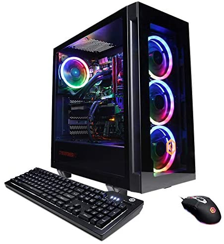 CyberpowerPC Gamer Supreme Liquid Cool Gaming PC, AMD Ryzen 7 3800X 3.9GHz, GeForce RTX 3060 12GB, 16GB DDR4, 1TB NVMe SSD, WiFi Ready & Win 10 Home (SLC8260A5)