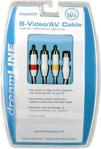 Wii S-Video/AV Cable White