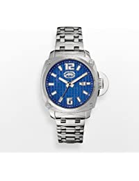 396531057fe Rhino by Marc Ecko Mens The McQueen Blue Dial Square Stainless Steel  Bracelet Watch E8M111MV