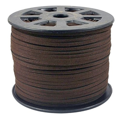 BeadsTreasure Saddle Brown Suede Cord Lace Leather Cord For Jewelry Making 3x1.5 mm-20 Feet.